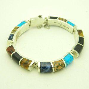 Taxco TC 264 Modernist Multi Gemstone Bracelet